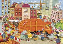 Wimmelbild_Das Müllauto kommt von Marion Krätschmer