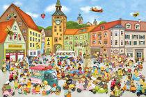 Wimmelbild_Sommer in der Stadt von Marion Krätschmer