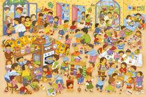 Wimmelbild_Ein Tag im Kindergarten von Marion Krätschmer