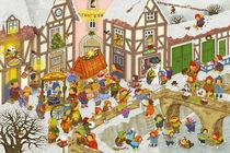 Wimmelbild_Mein Dorf im Winter von Marion Krätschmer