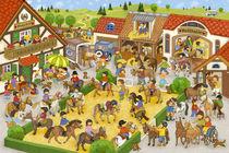 Wimmelbild_Mein Ponyhof von Marion Krätschmer