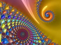 Golden Rainbow Spiral von Elisabeth  Lucas