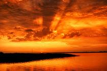 Goldener Abendhimmel von Bruno Schmidiger