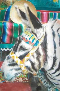 Tijuana Zebra Donkey by Elisabeth  Lucas