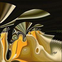 Phantasiegebilde in Gold-Schwarz von Susanna Badau