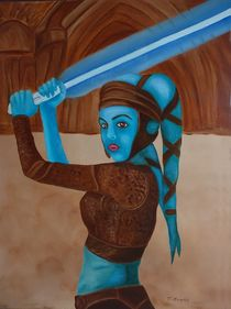 Aayla Secura  von theresa-digitalkunst