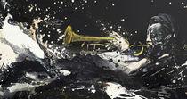 Trompeter gemalt - Trompete - Orchester von Conny Wachsmann