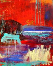 Zelten - rotes Bild von Conny Wachsmann