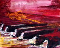 abstraktes Klavier - Landschaft by Conny Wachsmann