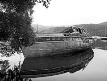 SCOTLAND. Fort Augustus. Beached Boat. by Lachlan Main