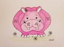 Happy hippo by anowi