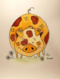Happy pig by anowi