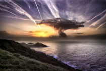 Swansea mushroom cloud sunrise von Leighton Collins