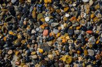 Stone Background on the beach in Denmark by Tobias Steinicke