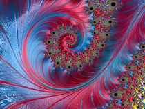 Blue and Red Spiral Wave von Elisabeth  Lucas
