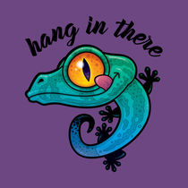 Hang In There Colorful Gecko by John Schwegel