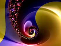 Satiny Blue Spiral von Elisabeth  Lucas