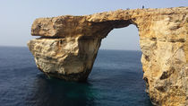 Azure Window, famous stone arch of Gozo island before the fall by ambasador