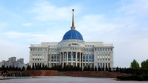 View to President palace in Astana in Kazakhstan by ambasador