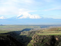 View at mountain Ararat from Armenian side by ambasador