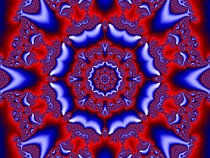 Red and Blue Kaleidoscope von Elisabeth  Lucas