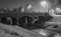 The Stone Bridge under the snow  by Enache Armand Iustinian