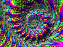 Elaborate Rainbow Spiral by Elisabeth  Lucas