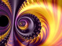 Bright Purple Spiral by Elisabeth  Lucas
