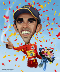 Alberto Contador caricature von William Rossin