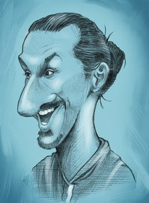 Zlatan Ibrahimovic caricature by William Rossin