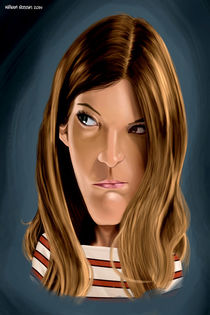 Debra Morgan (Dexter) caricature by William Rossin