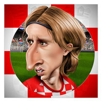 Luka Modric caricature by William Rossin
