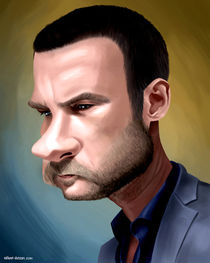Ray Donovan caricature by William Rossin