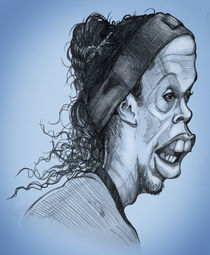 Ronaldinho caricature von William Rossin