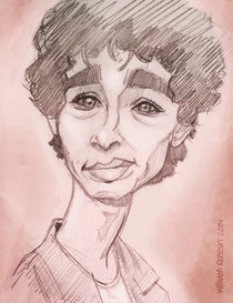 Nathan (Misfits series) caricature by William Rossin