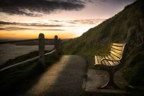 Wales Coastal Path bench by Leighton Collins