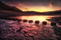 Sunrise at Three Cliffs Bay  von Leighton Collins