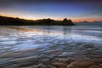 Daybreak at Three Cliffs Bay  von Leighton Collins