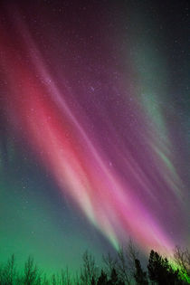 Red Northern Light by Jean-Marc Champeval