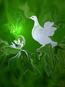 Friedenstaube, dove of peace, Digital Artwork von Dagmar Laimgruber