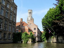 Scenery with water canal in Bruges by ambasador
