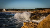 Wellengang am EsTrenc Strand auf Mallorca by Stefan Vogelmann