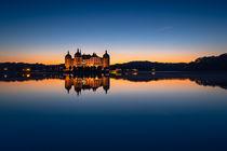 Abendstimmung am Schloss Moritzburg von Stefan Weiß
