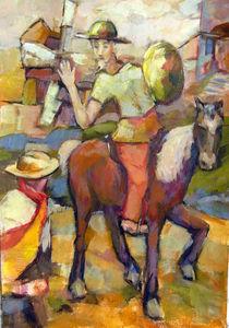 Don Quichotte Painting von alfons niex