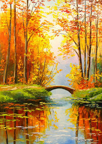 Bridge in the forest von Olha Darchuk