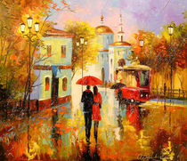 Autumn rain in the city of love von Olha Darchuk