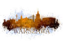 Warsaw in warm tones von Jarek Blaminsky