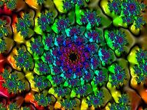 Shiny Rainbow Flower von Elisabeth  Lucas