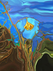 Ginkgobaum, digitale Malerei, Ginko, digital art von Dagmar Laimgruber