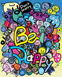 Don't worry Be Happy doodle von Cindy Shim